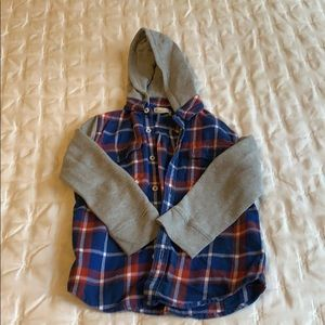 Tucker and Tate hooded flannel shirt sz 6